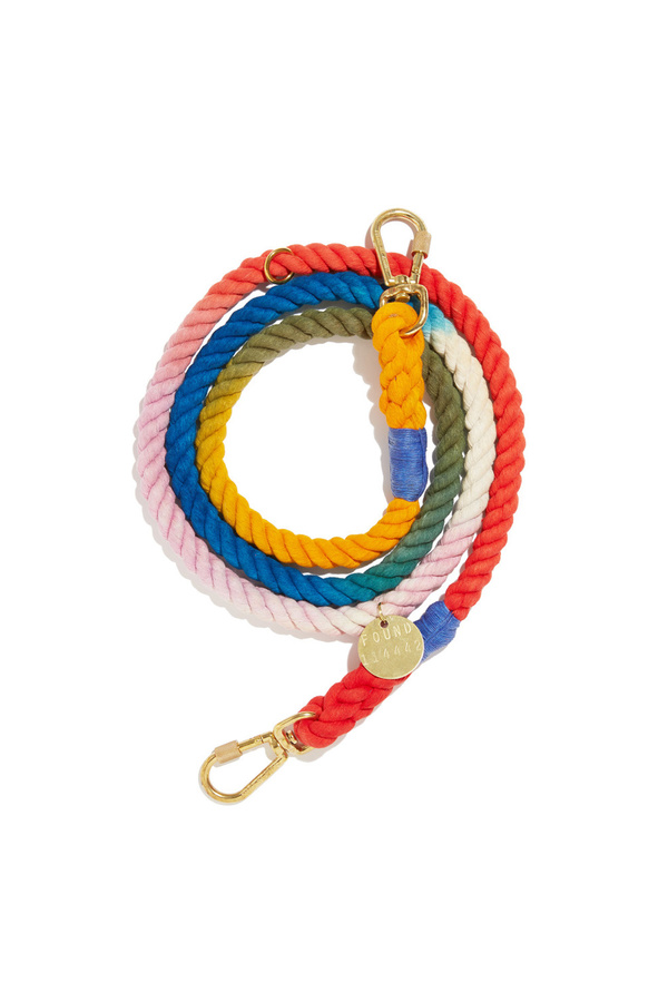 Found My Animal The Henri Ombre Cotton Rope Dog Leash, Adjustable