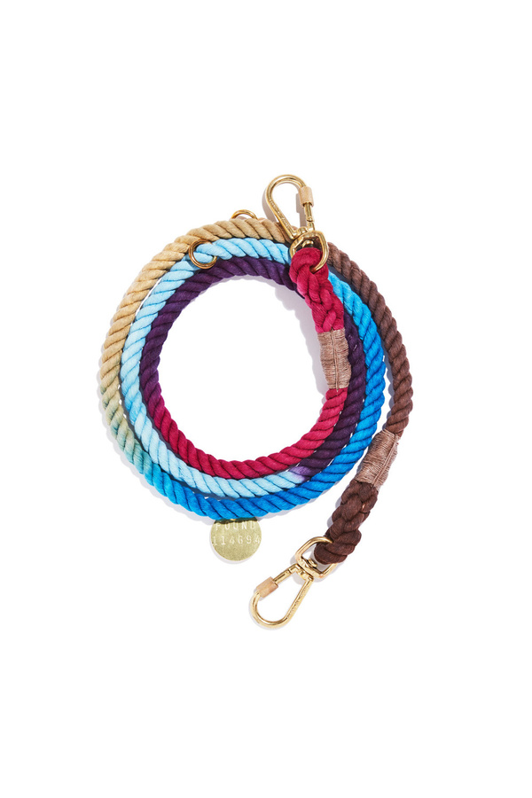 Found My Animal Adjustable Mood Ring Ombre Cotton Rope Dog Leash