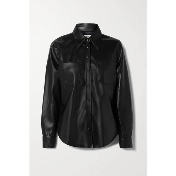 AGOLDE Paloma Vegan Leather Shirt