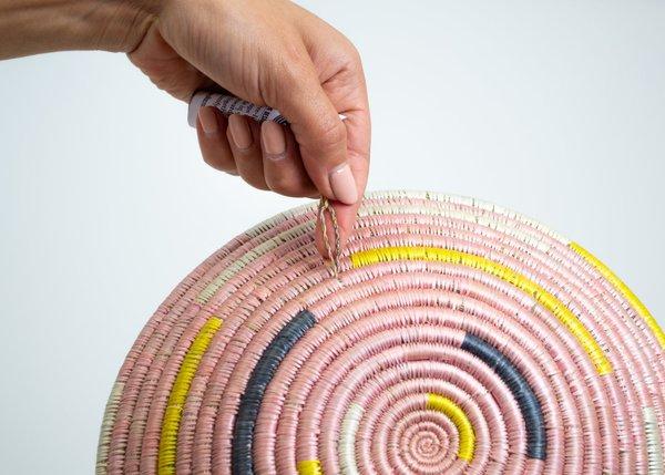 Kazi Goods Blush Spiral Bowl