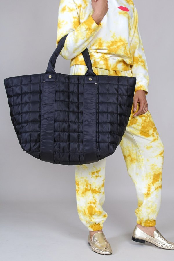 Clare V. Giant Trop - Black Quilted