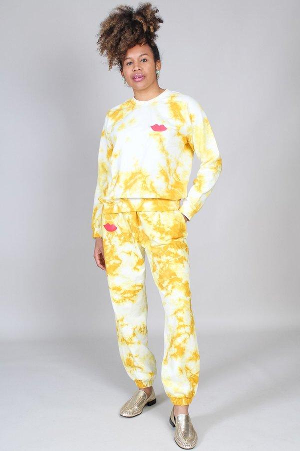 Clare V. Sweatshirt - Marigold Tie Dye/Poppy Lips