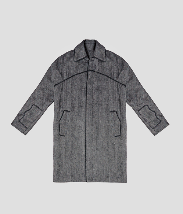 Unisex Carter Young Knight's Coat - Rainy Day Herringbone