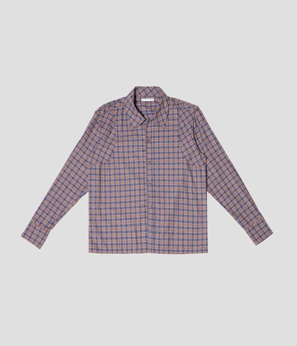 Unisex Carter Young Spread Collar Button Up - Indigo/Umber