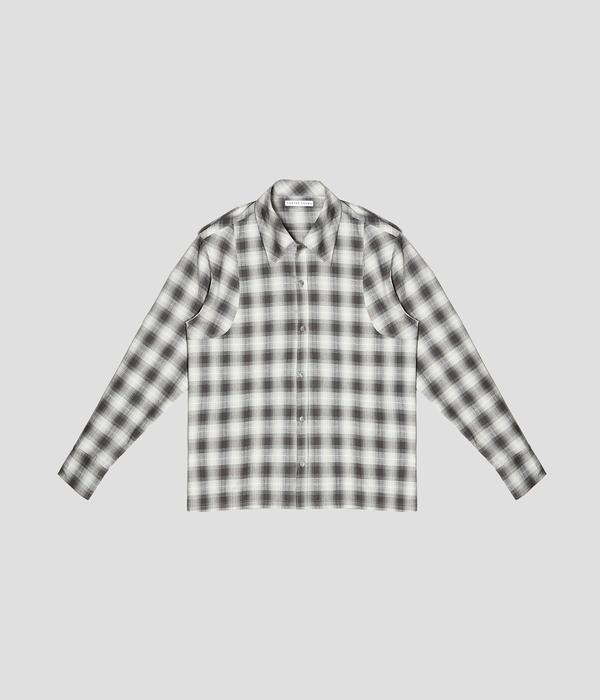 Unisex Carter Young Spread Collar Button Up - Pisces Green/Bone