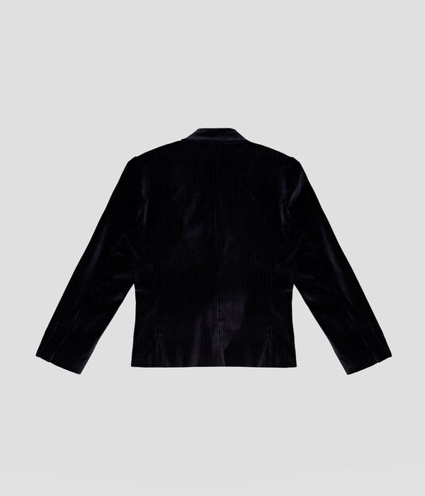 Unisex Carter Young Smoking Blazer - Black Mono