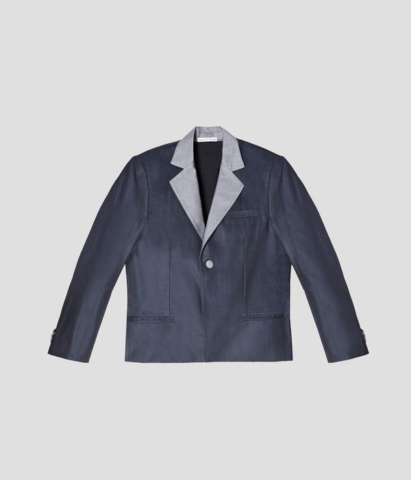 Unisex Carter Young Tuxedo Jacket - Ink/Reverse Denim