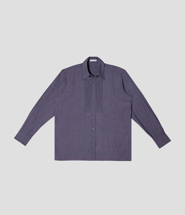 Unisex Carter Young Tuxedo Shirt - Night Blue