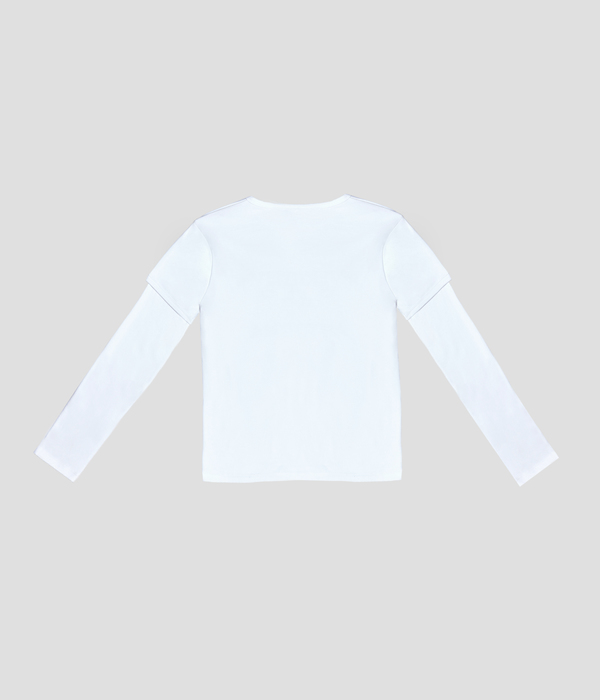 Unisex Carter Young Tiered Shirt - White/Black