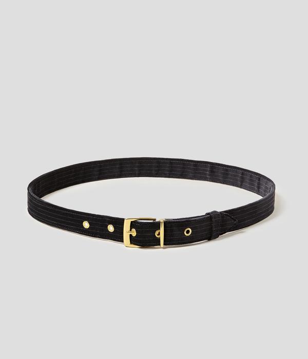 Unisex Carter Young Smoking Belt - Black Mono Stripe