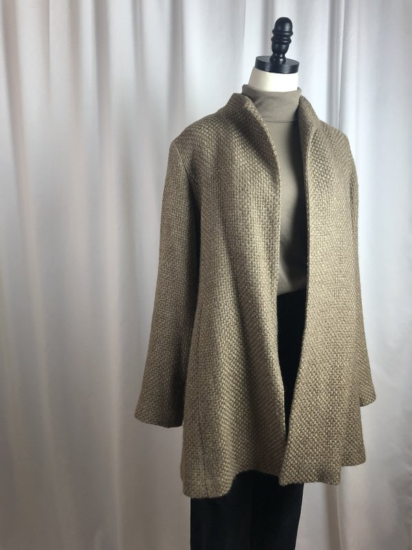 [pre-loved] Eileen Fisher Woven Jacket - Brown