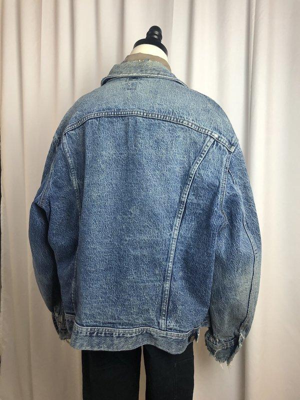 Vintage Lee Acid Wash Denim Jacket - acid wash denim