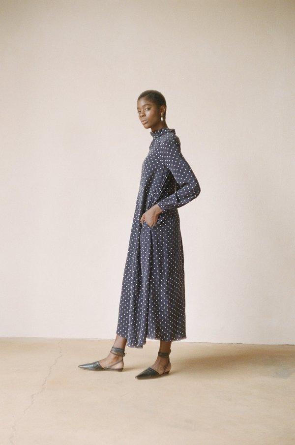 Maria Stanley JORDAN DRESS - dotted navy