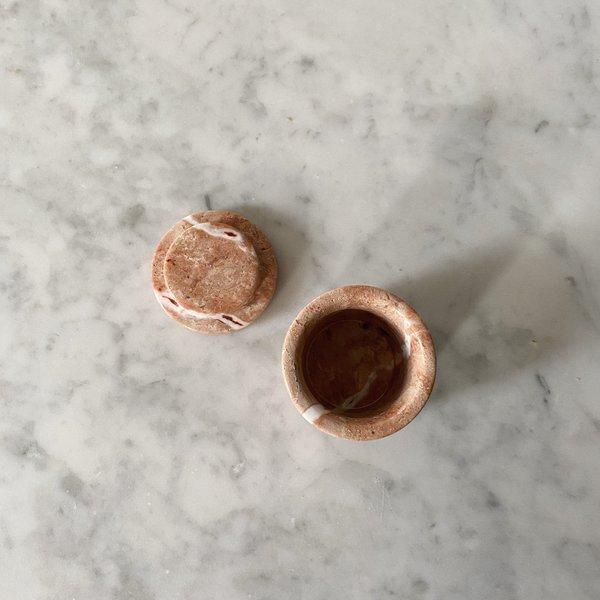 Tarin Thomas Marble Ring Box - Pink