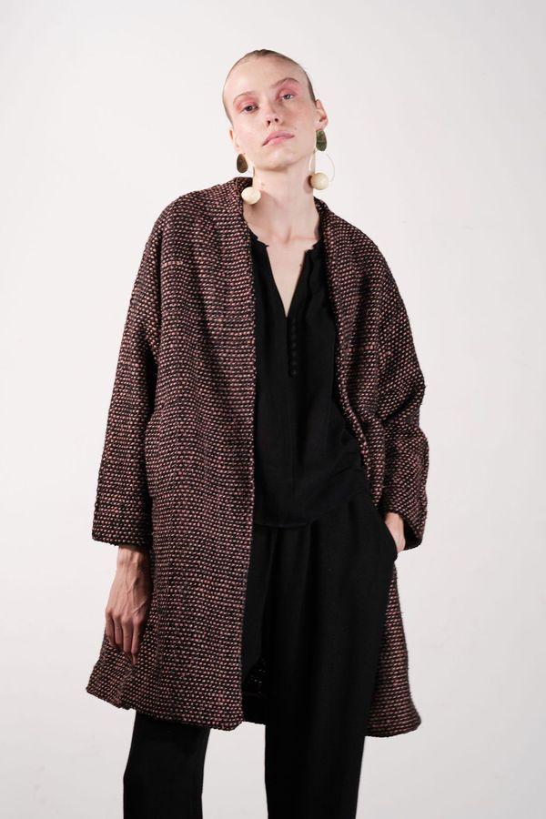Maria Stanley VERDE COAT - check