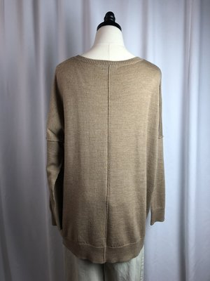 [pre-loved] 525 America Tan Merino Wool Sweater Tunic - Tan