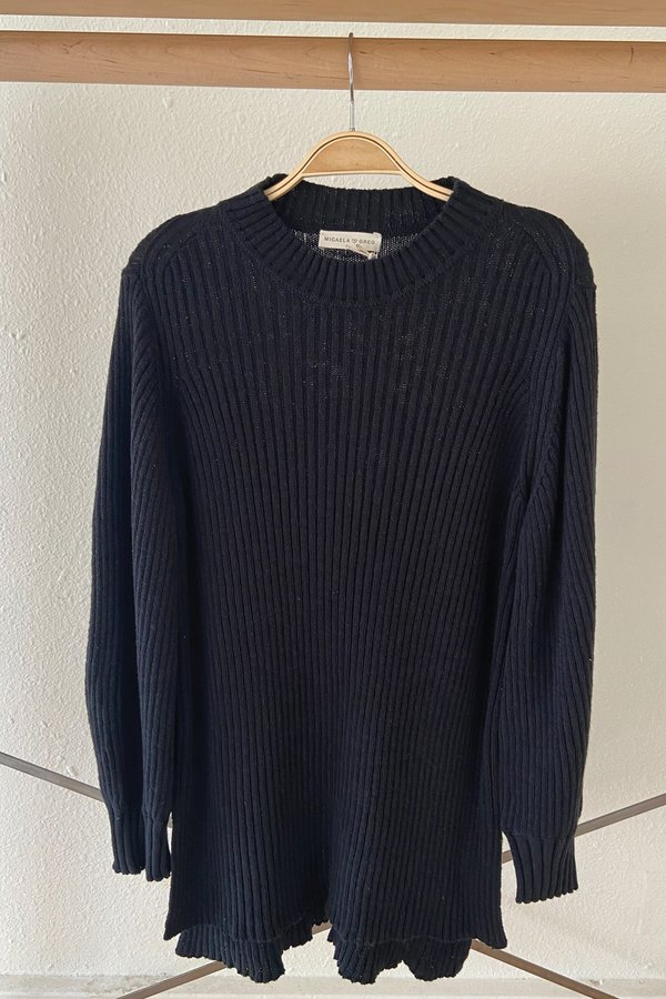 Black Alma Rib Sweater