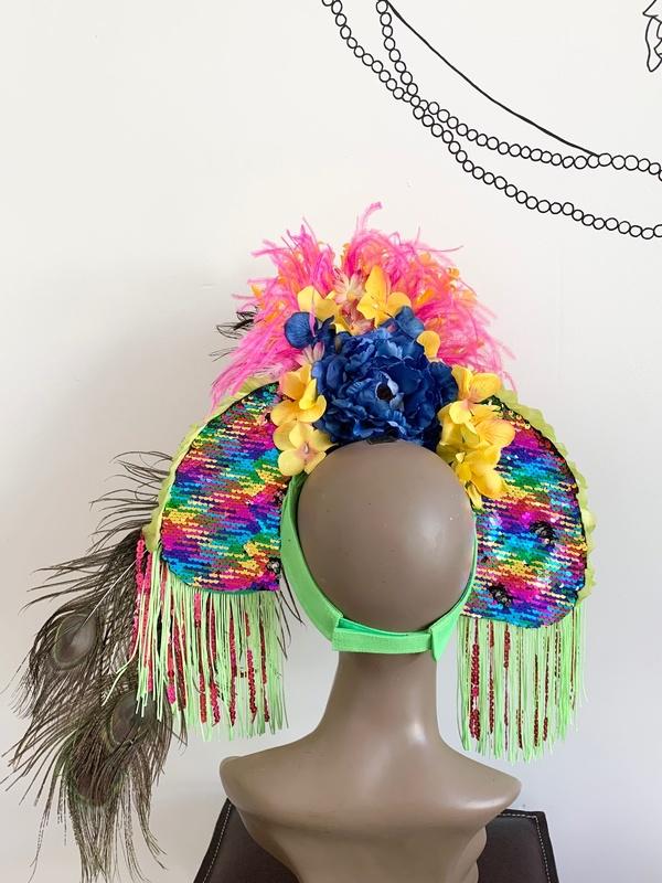 Kate McNee Headdress - Multi Bird