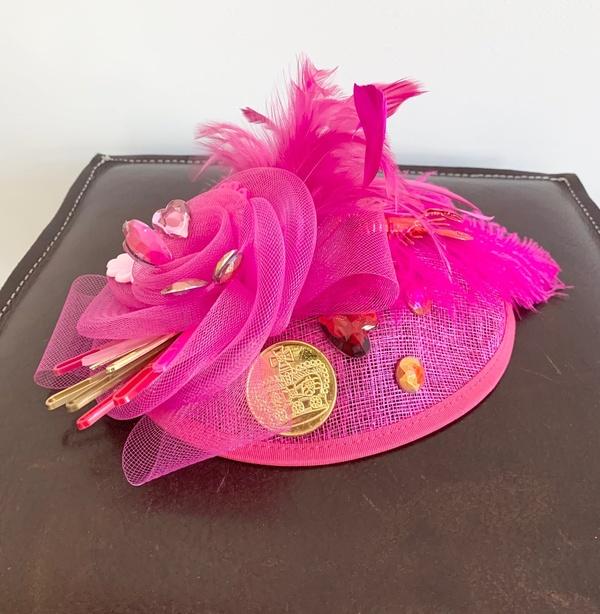 KSTP Fascinator Pink Crawfish Party