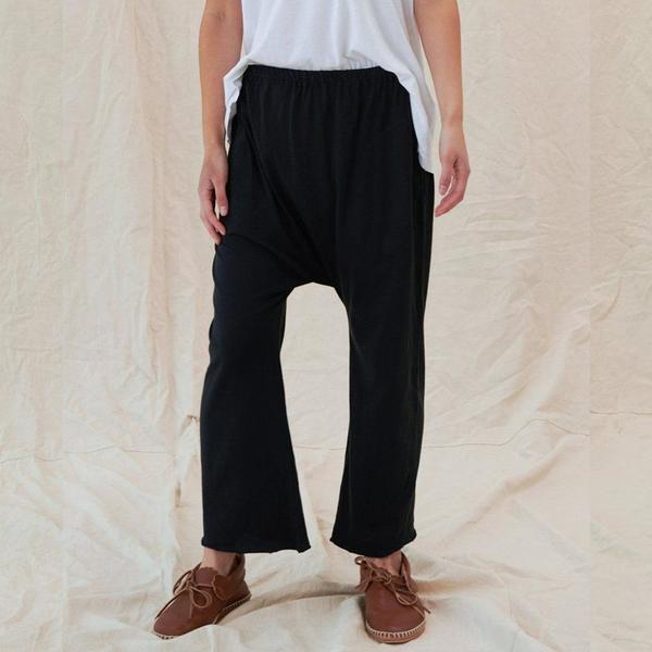 The Great. The Jersey Crop Pant - Almost Black