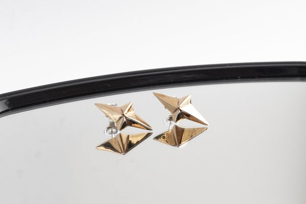 Black Daisies Stellar Heart earrings - Bronze