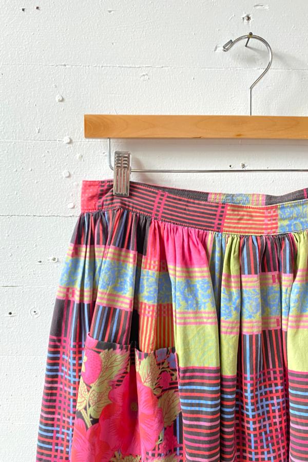 Vintage Pierre Deux Cotton Midi Skirt