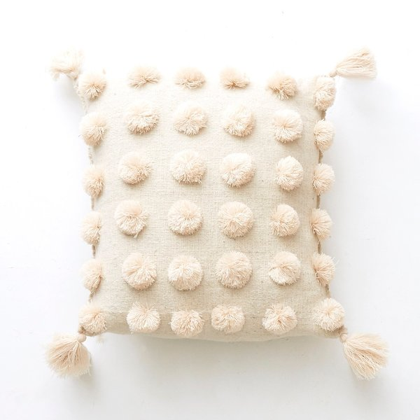 Handwoven Pom Pom Pillow