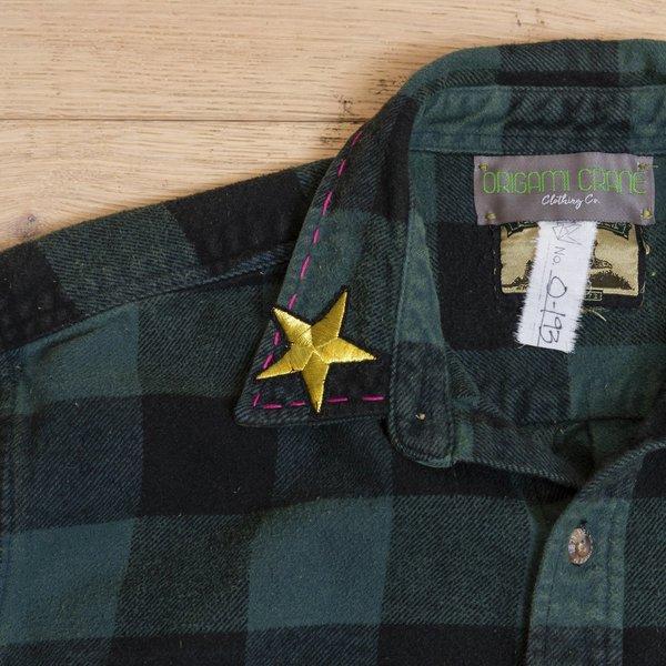 Crop Flannel Bunny Love Jacket