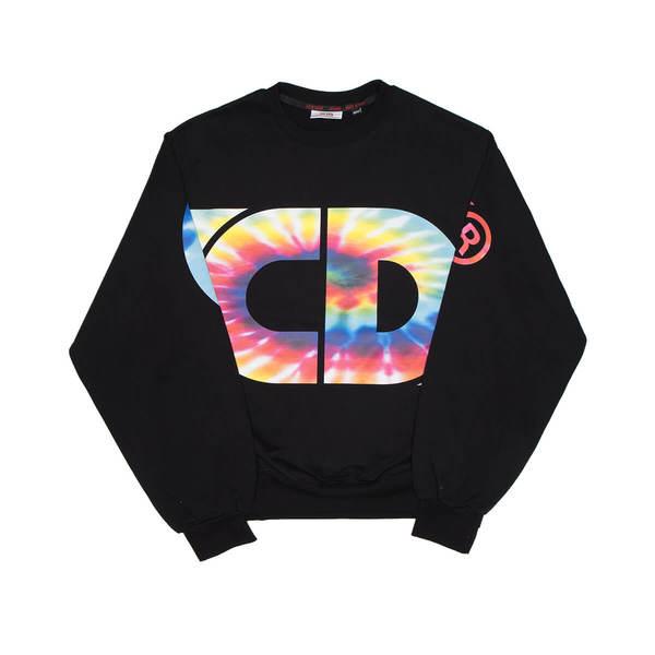 GCDS Macro tie dye sweatshirt - black