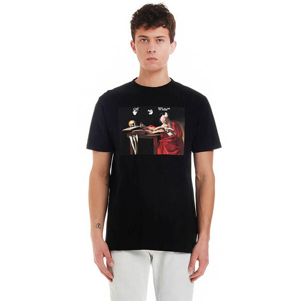 OFF-WHITE Caravaggio tee shirt - black
