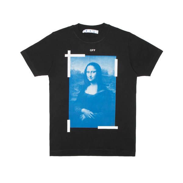 OFF-WHITE Blue Monalisa tee shirt - black