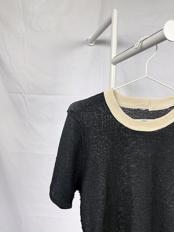 Vintage Colorblock Black Sweater - Black/Cream
