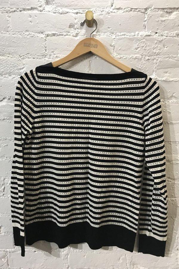 M.PATMOS Striped Boatneck Sweater- Large