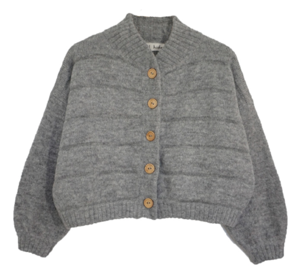 Wol Hide Quilted Bomber - Heather