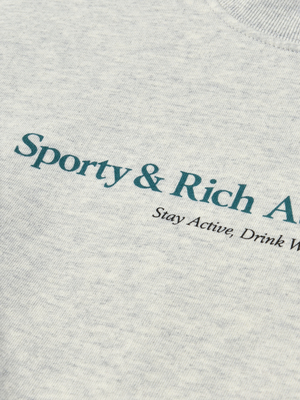 Sporty & Rich Athletic Club Crewneck - Heather Gray/Teal