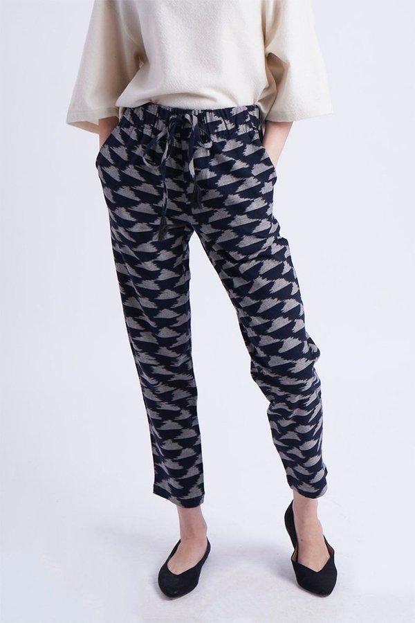 Umber & Ochre Drawstring Pants - Ikat