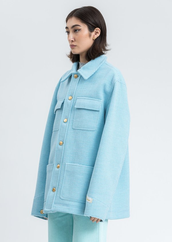 we11done Waffle Texture Cotton Jacket - Sky
