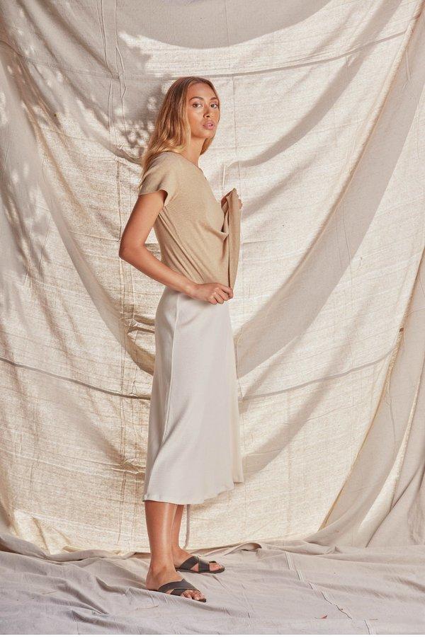 SAMPLE Rib Skirt | Cream