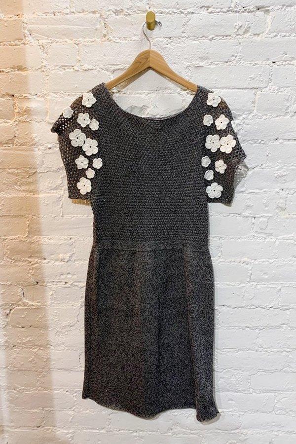 M.Patmos Cora Crochet Dress - black/white