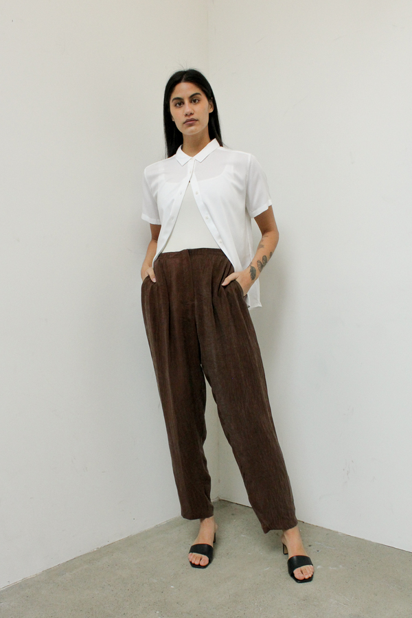 The silky cupro chic lounge pant - chocolate