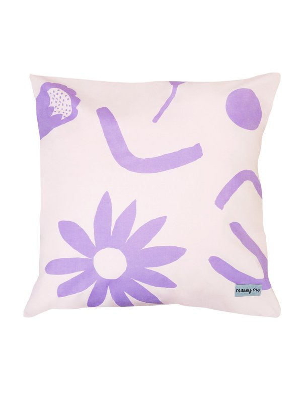 Mosey Me sample Floral Dreams EURO Pillowcase set - Lavender/Mustard