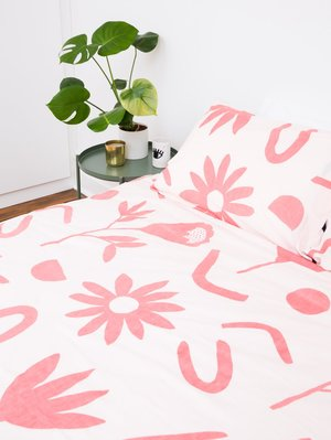 Mosey Me Floral Sample Dreams Quilt Cover Set - Ink/Musk