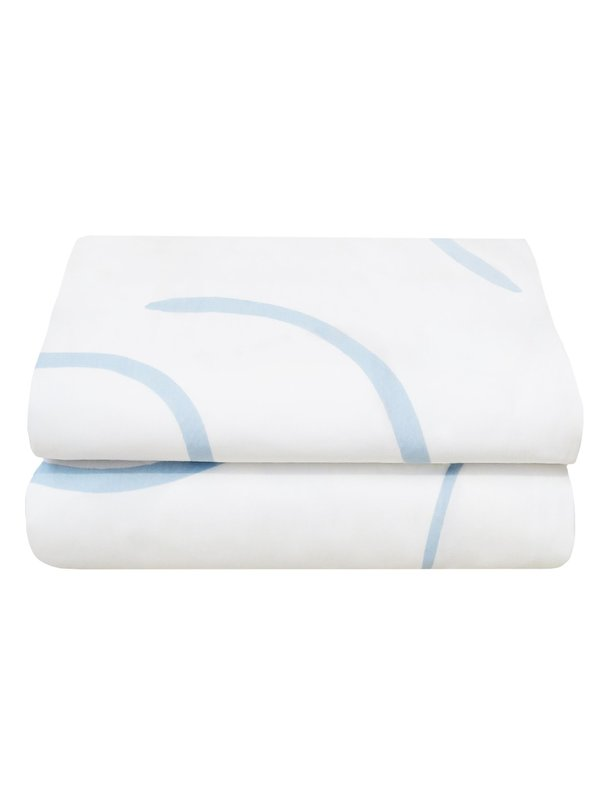 Mosey Me Sample Salento Quilt Cover Set - Blue/Clay