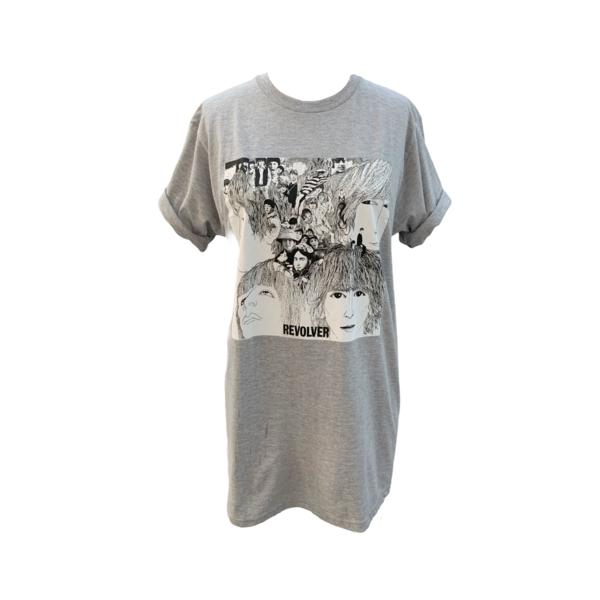 Farm Stand Beatles Revolver T-Shirt - gray