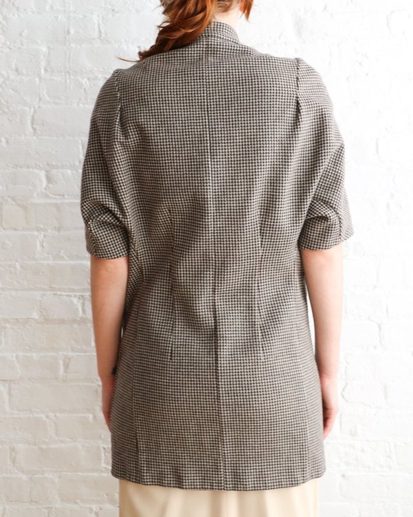 Marni Houndstooth Casual Overcoat, Size 40