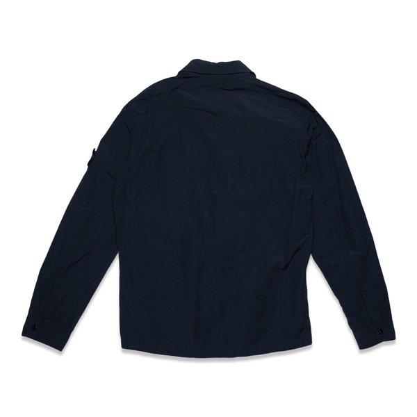 11102 Naslan Light Garment Dyed Overshirt - Black