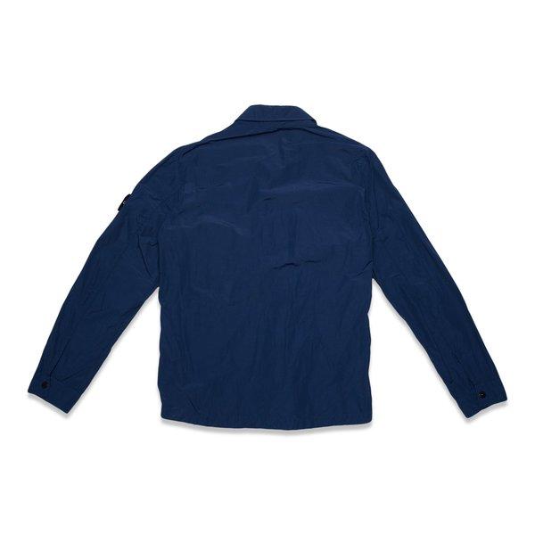 11102 Naslan Light Garment Dyed Overshirt - Blue Marine