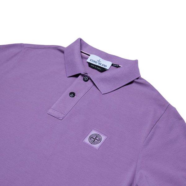 Stone Island Cotton Pique Garment+Pigment Dye Polo Shirt - Rose Quartz