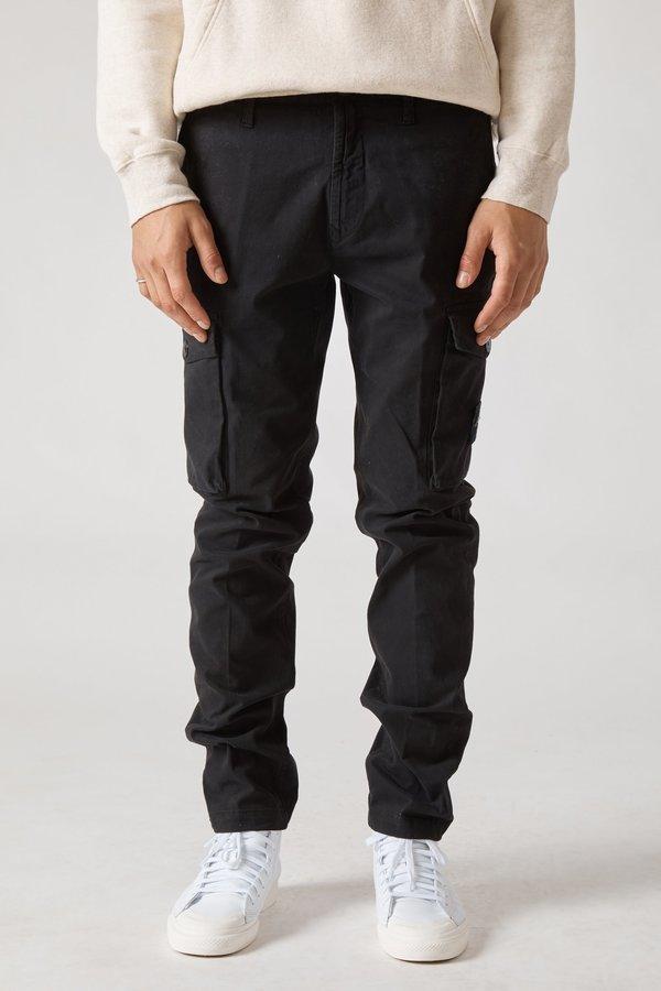 30810 Stretch Gabardine Garment Dyed Cargo Pants - Black