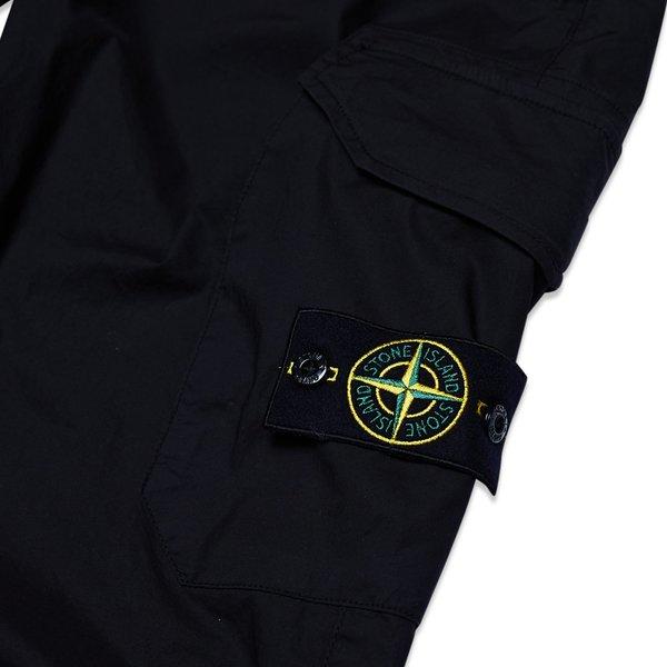 31403 Stretch Cotton Tela 'Paracadute' Garment Dyed Pants - Black